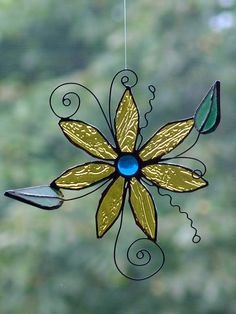 3D Stained glass suncatcher  Flower by SaintGlass on Etsy, $35.00