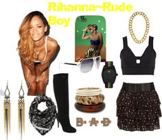 """""""Rude Boy-Rihanna"""" by tiffany-camille-hester on Polyvore"""