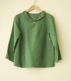 LINNET Linen blouse リネンブラウス NO.8ヘチマ衿ブラウス