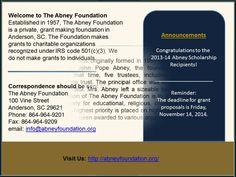 SUSIE MATHEWS ABNEY and ASSOCIATES FOUNDATION https://www.youtube.com/watch?v=lmVn05_4wpU