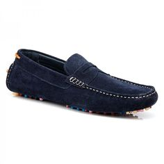Men's Suede Loafers #aquila #multicolour #sole #fashion #suede #loafer #summer  #Rickenbacker #Navy