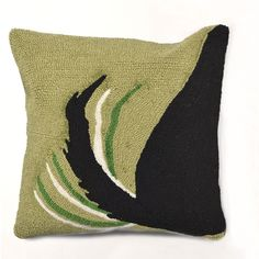 Trans-Ocean Imports 7FP8S142906 Frontporch Collection Green Finish Pillow