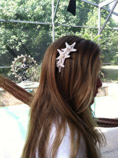 REAL STARFISH - Beautiful!  Mermaid Hair Starfish Headband by by IndianSummerGirls on Etsy, $14.00