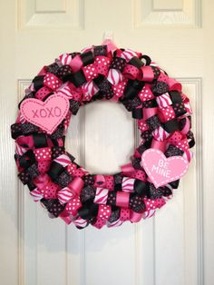 Be Mine Valentine Wreath by AmandasCreations11 on Etsy, $40.00
