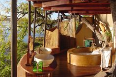 Fall in love at Tongabezi! Really a unique and luxurious experience on the edge of the Zambezi River.