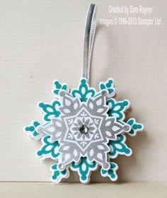 Festive flurry snowflake tree decoration - Stampin' Up!
