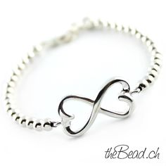 925 sterling silver infinity bracelet by theBead //925 Sterling Silber Infinity Armband by thebead