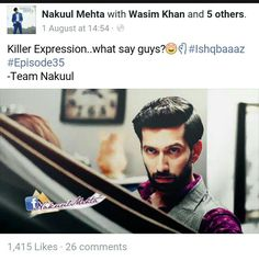 Ufffff Killer expression of SSO's.... Nakuul Mehta FB...