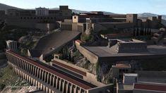 Akropolis von Pergamon. 2:21. Computer recreation imagery of the city of Pergamon and of the Altar of Zeus.