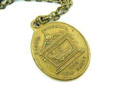 Rare Saint Philomena Necklace - Vintage Catholic Medal - St Charm - Patron Saint Babies and Kids - U12 by LuxMeaChristus on Etsy