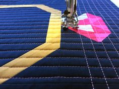 Top tips for quilting a modern grid with stitches! Off the Grid: Tips for Grid Quilting.
