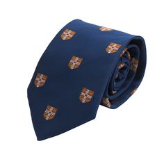 Official University Of Cambridge Red Coat Of Arms Silk Tie