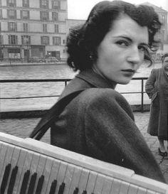 Robert Doisneau - Lulu, the singer, and ... d'Orient, the accordionist, Paris - 195?