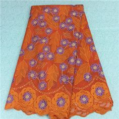 African Embroidery Lace Fabric LKLACE1342-7  https://www.lacekingdom.com/      #embroiderylace