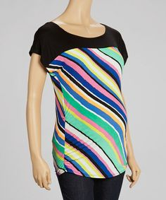 Another great find on #zulily! Blue Stripe Maternity Top by QT Maternity #zulilyfinds