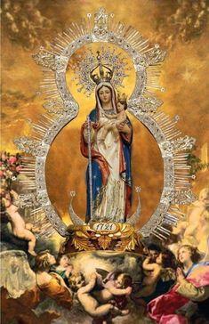 Catholic Prayers, Catholic Art, Catholic Saints, Religious Images, Religious Icons, Religious Art, Blessed Mother Mary, Blessed Virgin Mary, Hail Holy Queen