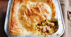 There's nothing like a warm and tasty chicken and corn pie to bring the family together on a winter weeknight.