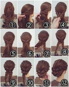 Best Ideas Wedding Hairstyles Updo Tutorial Half Up Cute Braided Hairstyles, Braided Updo, Girl Hairstyles, Wedding Hairstyles, Bun Braid, Latest Hairstyles, Chignon Hair, Bun Updo, Princess Hairstyles