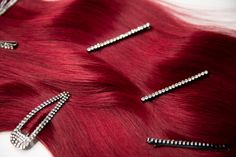 Milk + Blush Hair Extensions: Superior Set in the shade I Said Red - Modern Clip In Hair Extensions, Remy Human Hair, Your Hair, Blush, Hair Accessories, Shades, Long Hair Styles, Lace, Rouge