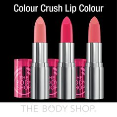 Our luscious Colour Crush lipsticks give a stunning POP of colour whilst RICHLY moisturing. They're also infused with a subtle rose scent