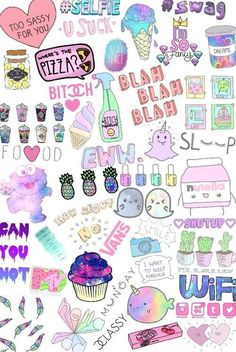 Une abo ma demandé des collages tumblr transparents (petits dessin kawaii) Les voila ! Cute Drawings, Iphone Wallpaper Kawaii, Sassy Wallpaper, Emoji Wallpaper, Tumblr Wallpaper, Cool Wallpaper, Printable Stickers, Cute Stickers, Overlays