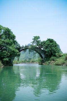 old stone bridge in Yangshuo