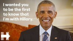 President Barack Obama endorses Hillary Clinton for president   Hillary ...Published on Jun 9, 2016 SUBSCRIBE for the latest news and updates from the Hillary Clinton campaign ► http://hrc.io/1IoVaSK Text IN to 47246 Watch more videos from Hillary Clinton!► https://www.youtube.com/watch?v=_Zwgu...