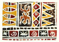 arteascuola: African Patterns on wrapping paper