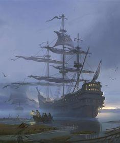 Harry Potter, Ghost Ship, Black Sails, Big Eyes, Revenge, Sailing Ships, Mists, Caribbean, Medieval