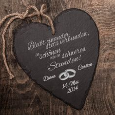 Schieferherz zur Hochzeit Slate is a very special material with a long tradition. As a stylish gift for the wedding, the individually engraved heart of slate is a real unique. Diy Gifts For Dad, Diy Gifts For Friends, Easy Diy Gifts, Diy Gifts For Boyfriend, Gifts For Teens, Gifts For Family, Diy Gifts Videos, Slate Wedding, Diy Pinterest