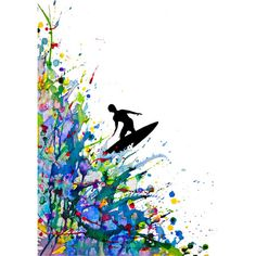 JaxsonRea ''A Pollock's Point Break'' by Marc Allante Graphic Art on Wrapped Canvas Size: Painting Edges, Painting Prints, Watercolor Paintings, Art Prints, Ink Paintings, Dot Painting, Tinta China, Inspiration Art, Melting Crayons