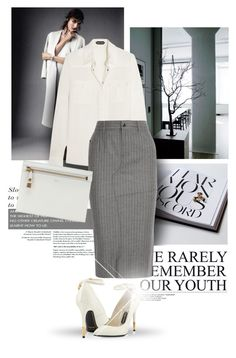 """White/grey"" by bliznec ❤ liked on Polyvore"