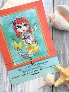 WISH Bracelet and Art Jewelry Mermaid Key West Wishes/