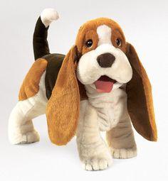 PuppetU.com - Folkmanis Basset Hound Dog Hand Puppet, $29.99 (http://store.puppetu.com/folkmanis-basset-hound-dog-hand-puppet/)