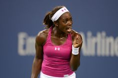 Sloane Stephens (USA) faces off against Ana Ivanovic (SRB)[12] in the third round of the US Open. - Rob Loud/USTA