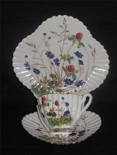 Rare Pre Shelley, Willeman Foley, Alexandra Pattern Trio (3707) - 1884 - 1887.