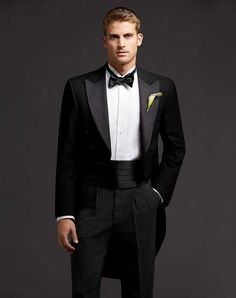 Men S Wearhouse Full Dress Tails Tuxedo Wedding Tuxedos Suit Photo Groom