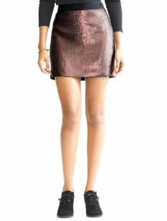 Banana Republic - Monogram pink sequin skirt - $98