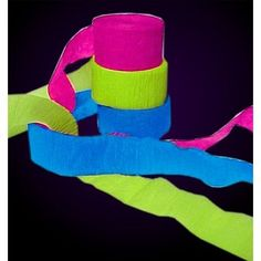 Black Light Reactive Neon Party Streamers for kids to turn themselves into mummies, mummy arms, etc. and dance in the black light. 13th Birthday Parties, Slumber Parties, 16th Birthday, Teen Parties, Diy Neon Birthday Party, Sleepover Party, Diy Neon Party, Dance Party Birthday, Teen Birthday