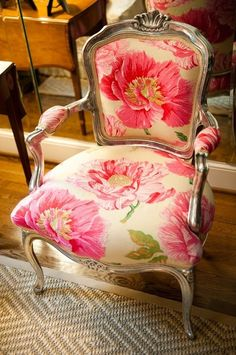 awesome I love this chair with it's pink floral fabric.... by http://www.top-homedecor.space/chairs/i-love-this-chair-with-its-pink-floral-fabric/