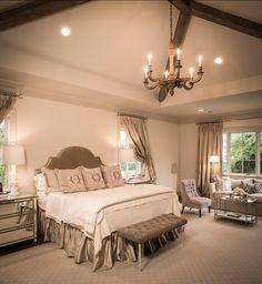 Master Bedroom. French Inspired Master Bedroom Design. #MasterBedroom #FrenchBedroom #FrenchInteriors