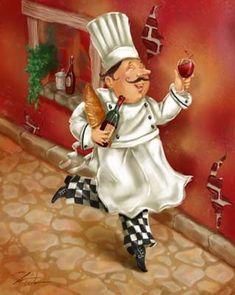 Chefs με κρασί από Shari Warren