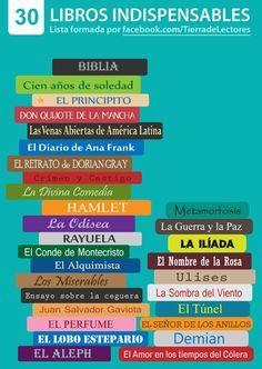 Los 30 Libros Que Debes Leer Libros Recomendados Para Leer Libros Para Leer Juveniles Libros De Leer