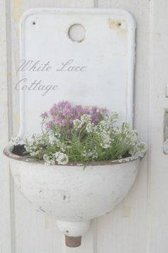French Enamel Sink - White Lace Cottage