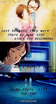 Don't expect things from other people becuz you'll only get hurt in the end Sad Anime Quotes, Manga Quotes, Drawing Quotes, Hikaru Nara, April Quotes, Miyazono Kaori, Your Lie In April, Badass Quotes, Anime Life