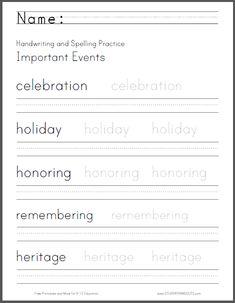 basic etiquette handwriting and spelling worksheet free to print pdf file primary grades. Black Bedroom Furniture Sets. Home Design Ideas