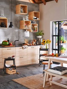25 Home Decoration Organization and Storage Tips Dreamy modern French apartment ideas. The Best of home interior in Modern Farmhouse Kitchens, Farmhouse Kitchen Decor, Hektar Ikea, Raskog Ikea, Ikea Kallax, Hacks Ikea, French Apartment, Apartment Ideas, Gravity Home
