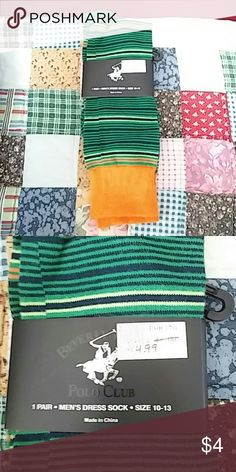 Beverly Hills Polo Club Dress Socks 1 pair of means dress socks that are green, blue and orange Beverly Hills Polo Club  Underwear & Socks Dress Socks
