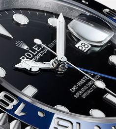 Discover the new GMT-Master II fitted with a Jubilee bracelet and a two-colour graduated Cerachrom insert in blue and black ceramic. Luxury Watches, Rolex Watches, Cool Watches, Watches For Men, Rolex Blue, S Shock, Oyster Perpetual Datejust, 3 O Clock, Watch Companies