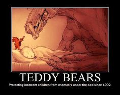 Funny pictures about Teddy Bears Are Always There To Protect Us. Oh, and cool pics about Teddy Bears Are Always There To Protect Us. Also, Teddy Bears Are Always There To Protect Us photos. Really Funny Memes, Stupid Funny Memes, Funny Relatable Memes, Funniest Jokes, Horror Comics, Funny Comics, Beste Comics, Monster Under The Bed, Innocent Child